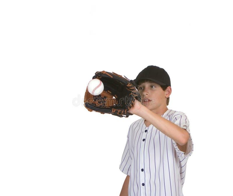 Ragazzo che cattura baseball3 fotografia stock