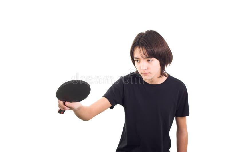 Ragazzo che gioca ping-pong fotografia stock libera da diritti