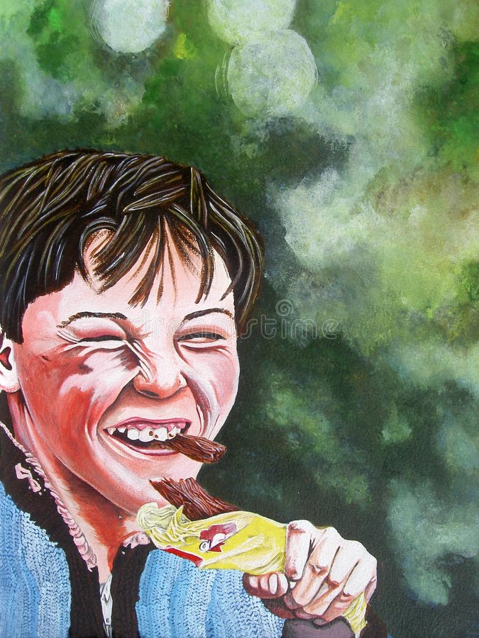 Ragazzo Che Mangia Cioccolato Fotografia Stock Libera da Diritti