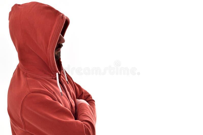 ragazzo con le maglie con cappuccio fotografia stock