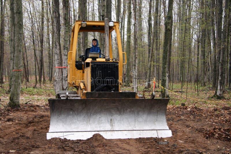 Ragazzo del bulldozer immagine stock