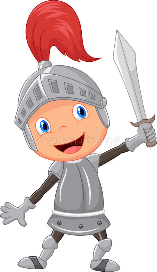 Ragazzo del cavaliere del fumetto illustrazione di stock