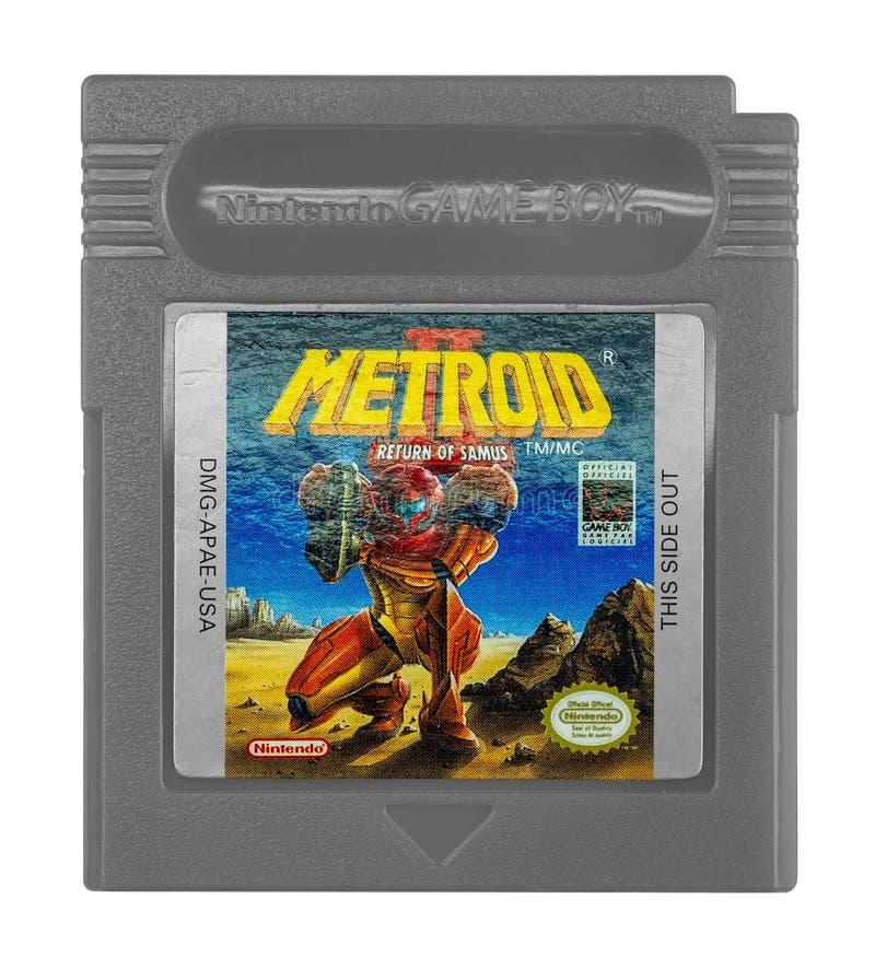 Ragazzo del gioco di Metroid II Nintendo immagini stock libere da diritti