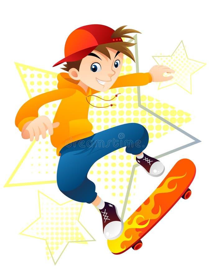 Ragazzo del pattinatore illustrazione vettoriale