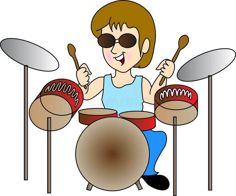 Ragazzo del tamburo illustrazione di stock