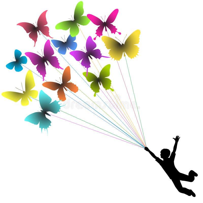 Ragazzo della farfalla royalty illustrazione gratis