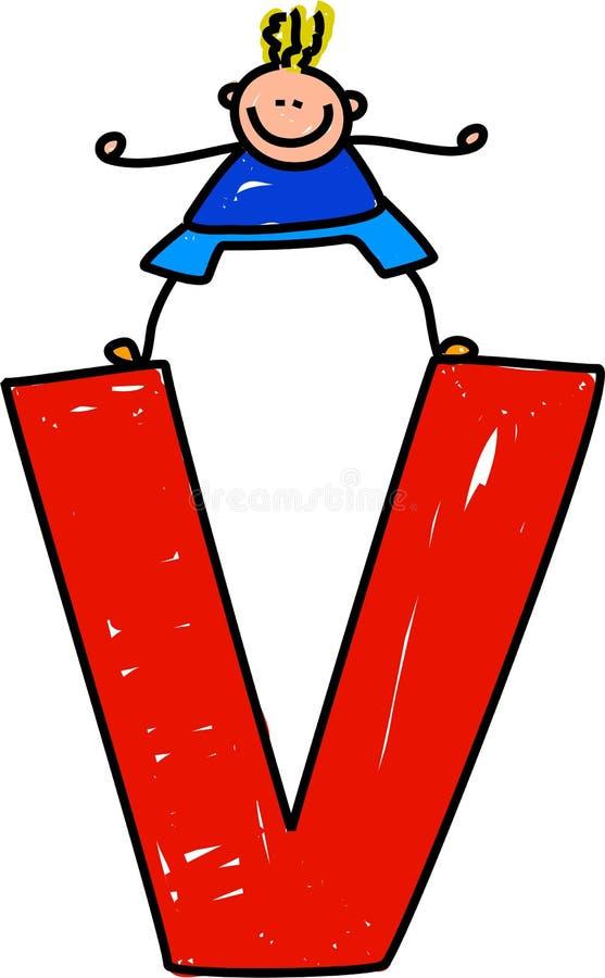 Ragazzo della lettera V illustrazione di stock