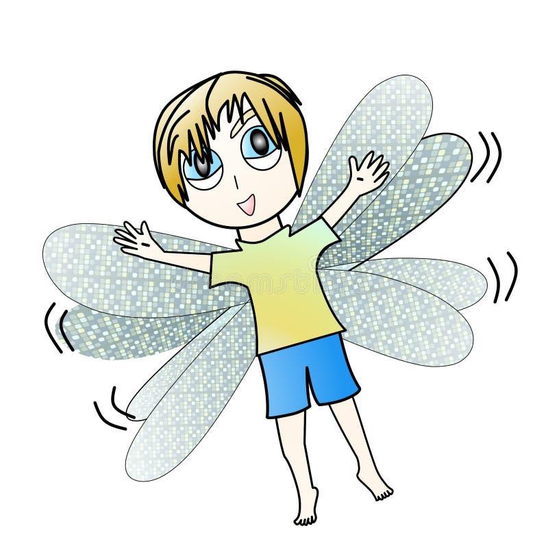 Ragazzo della libellula immagine stock