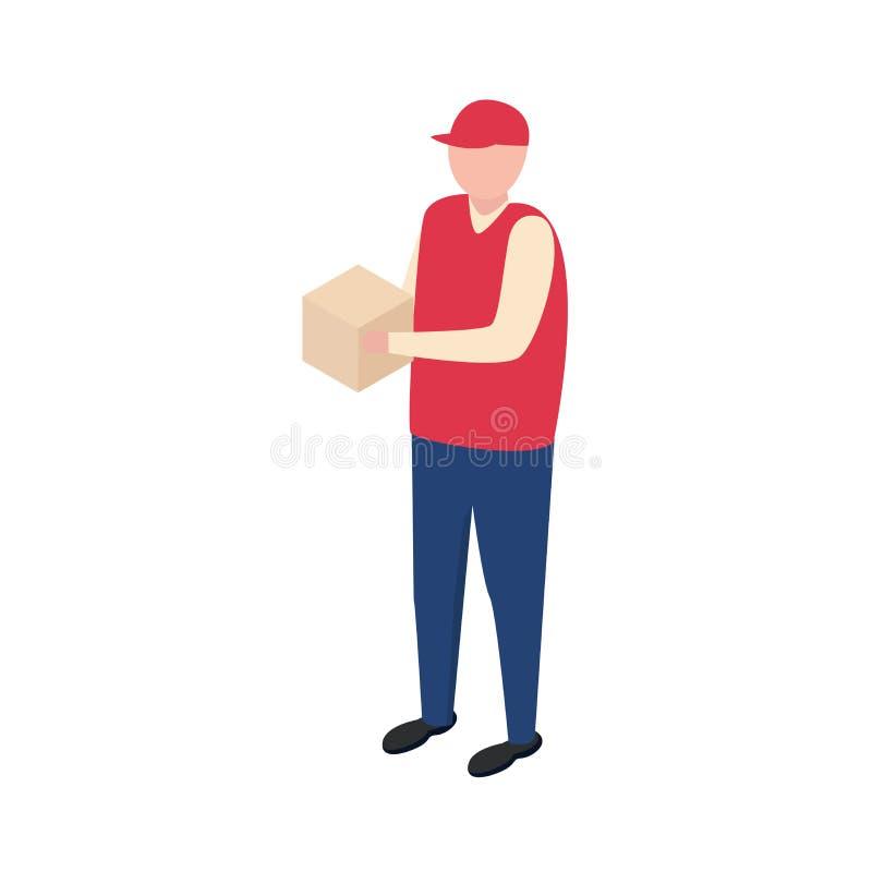 Ragazzo di consegna Uomo di vettore illustrazione di stock