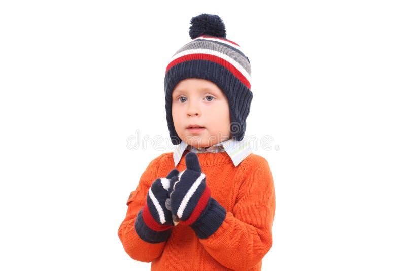 Ragazzo di inverno immagine stock