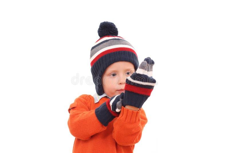 Ragazzo di inverno immagini stock libere da diritti