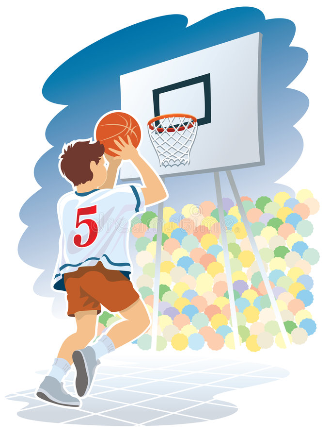 Ragazzo di pallacanestro illustrazione di stock
