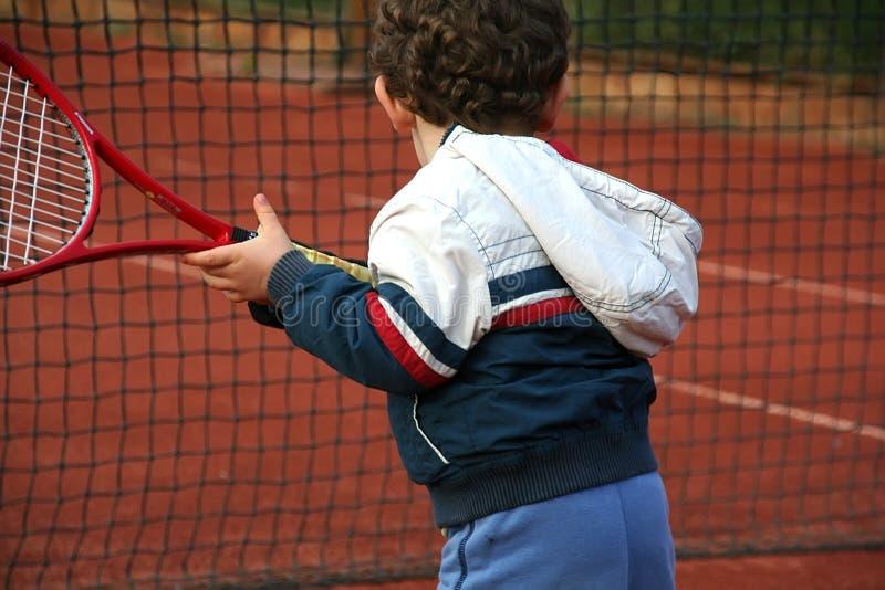 Ragazzo di tennis fotografie stock