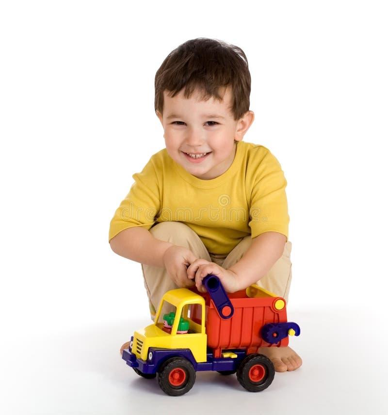 Ragazzo e camion fotografia stock libera da diritti