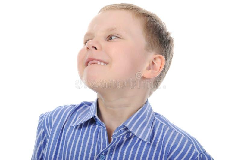 Ragazzo felice senza i denti di fronte fotografie stock