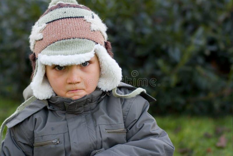 Ragazzo furioso 2 di inverno fotografia stock libera da diritti