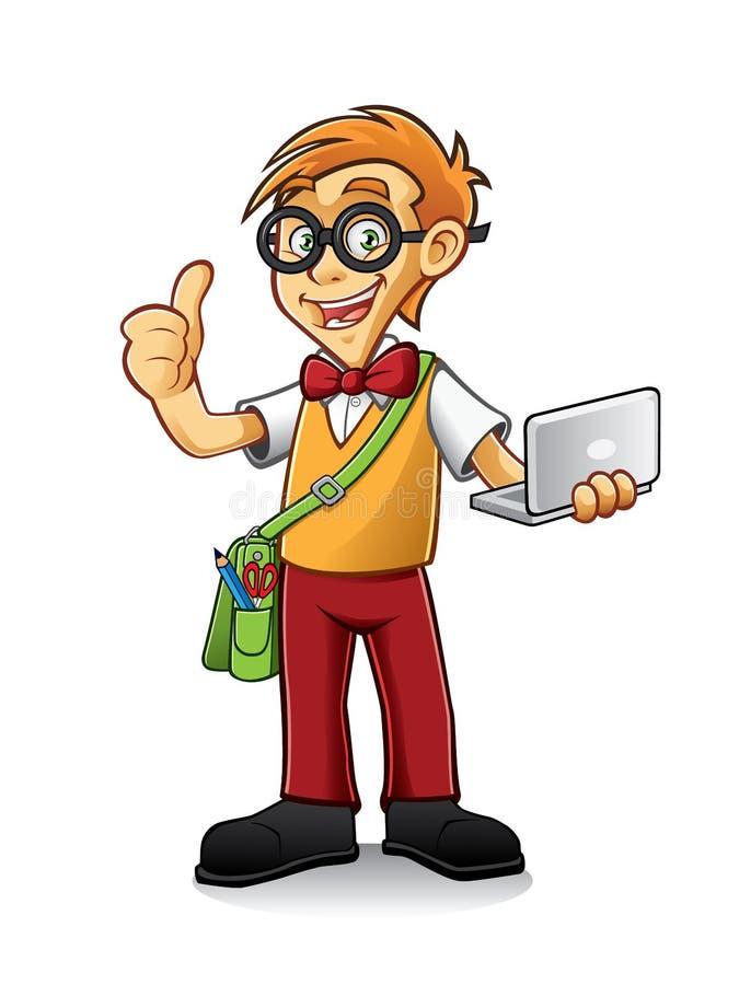 Ragazzo Geeky illustrazione di stock