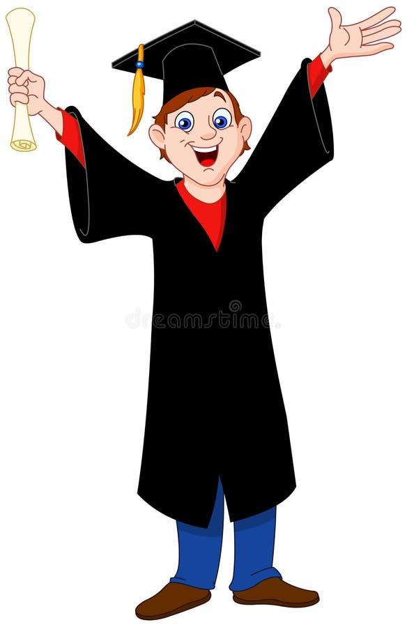 Ragazzo graduato royalty illustrazione gratis