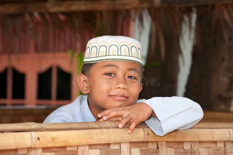 Ragazzo musulmano fotografia stock