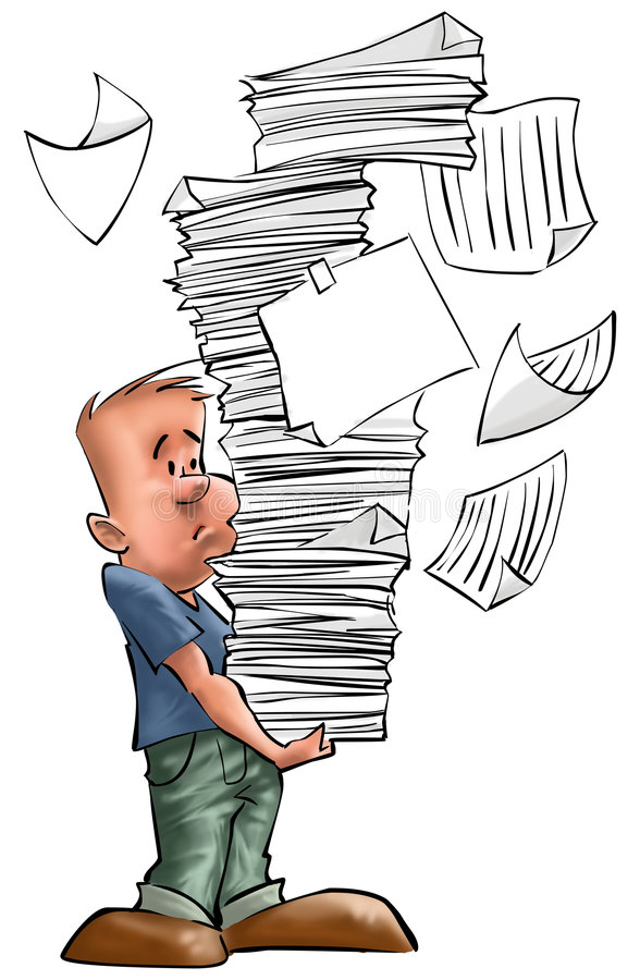 Ragazzo occupato illustrazione vettoriale