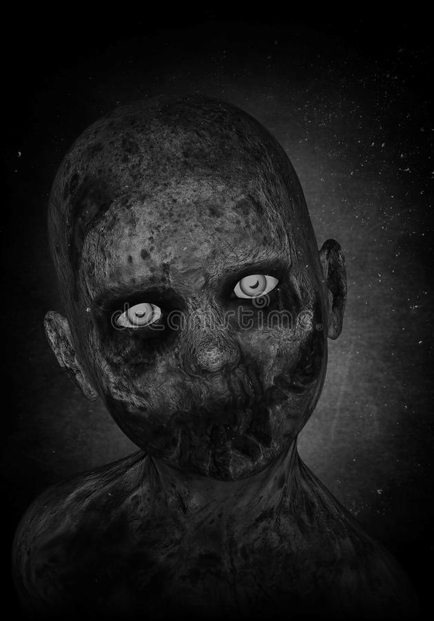Ragazzo spaventoso dello zombie illustrazione di stock
