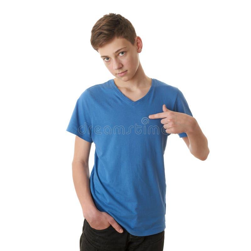 Ragazzo sveglio dell'adolescente sopra fondo isolato bianco immagini stock libere da diritti