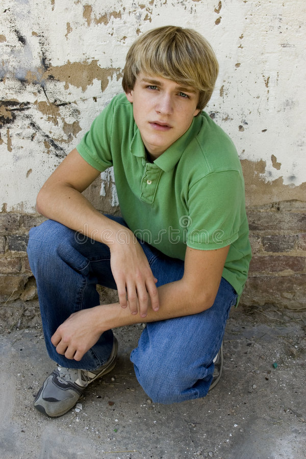 Ragazzo teenager attraente fotografia stock