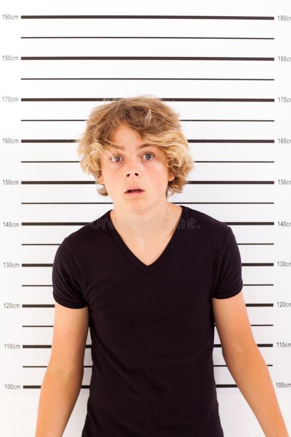 Ragazzo teenager colpito immagini stock libere da diritti