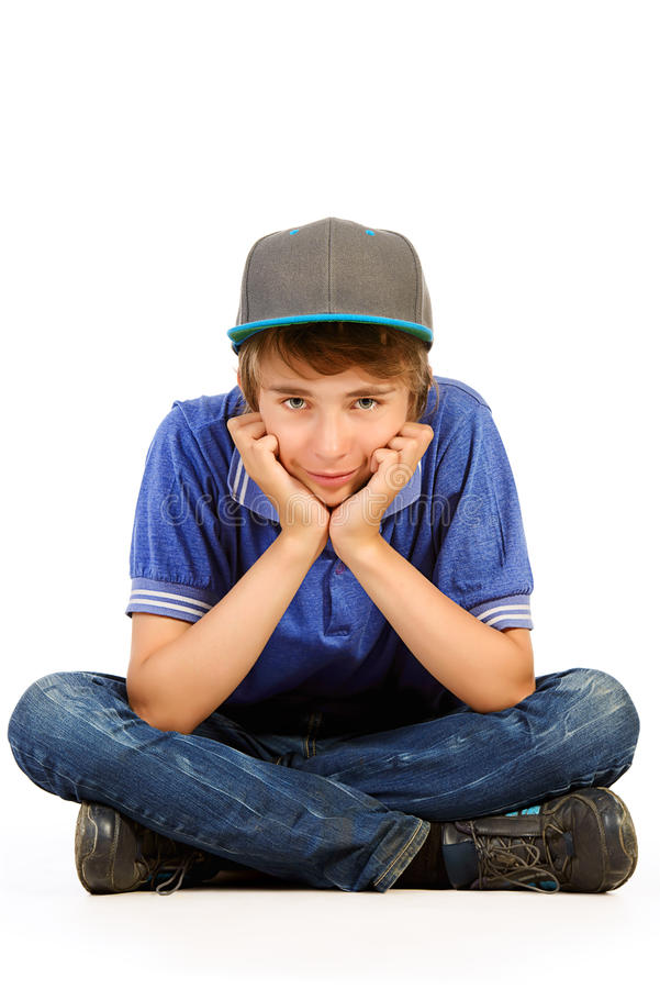 Ragazzo teenager triste immagini stock