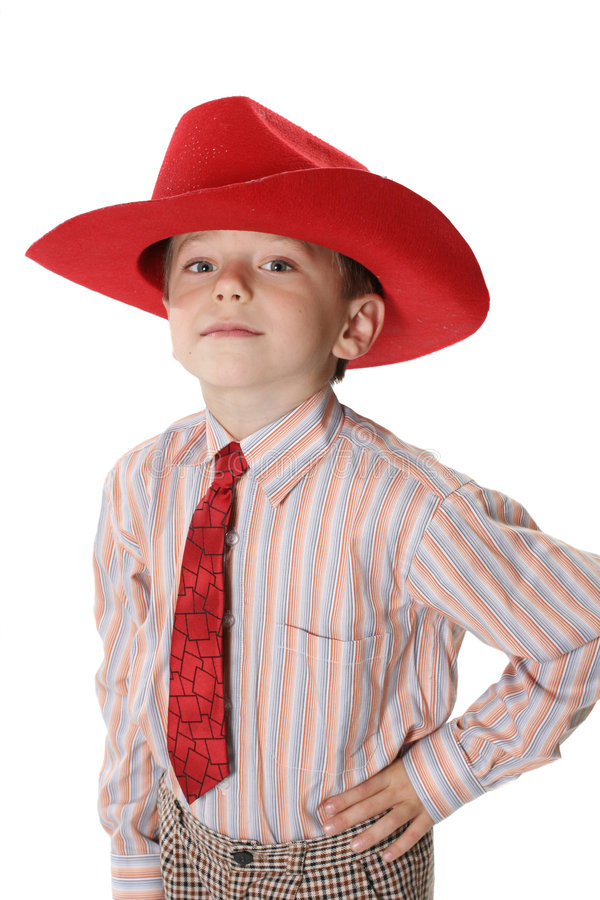 Download Ragazzo In Un Cappello Del Cowboy E Del Legame Fotografia Stock - Immagine di famiglia, osservare: 3888346