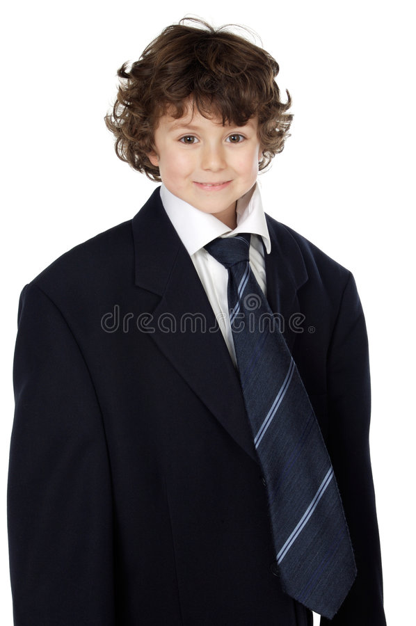 Ragazzo in un vestito fotografia stock libera da diritti
