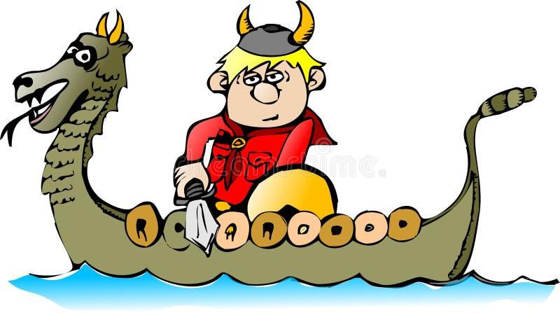 Ragazzo in una barca royalty illustrazione gratis