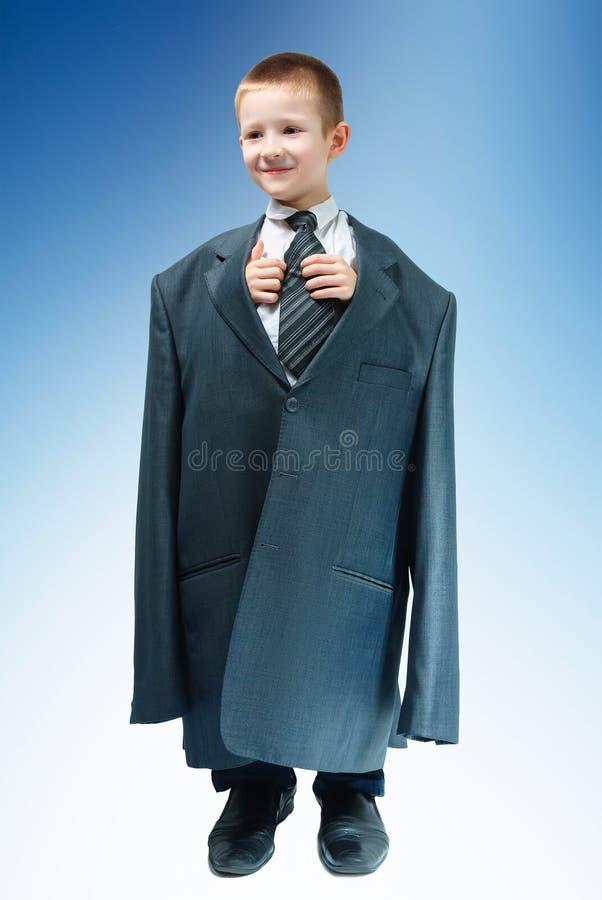 Ragazzo in vestito fotografia stock