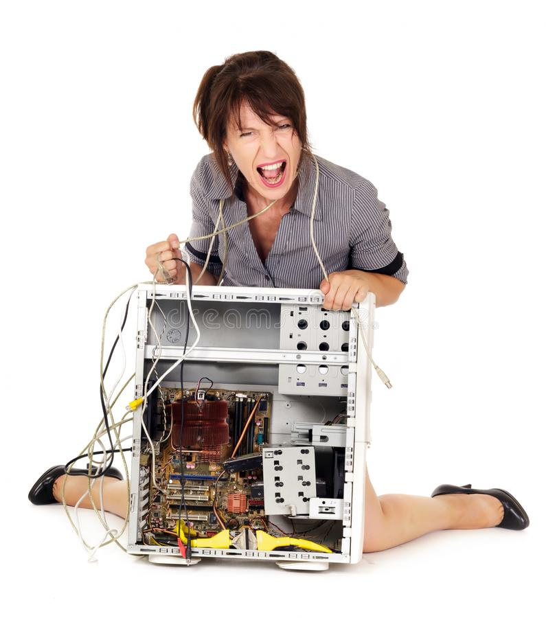 Download Rage against computer stock photo. Image of angry, knees - 26442816