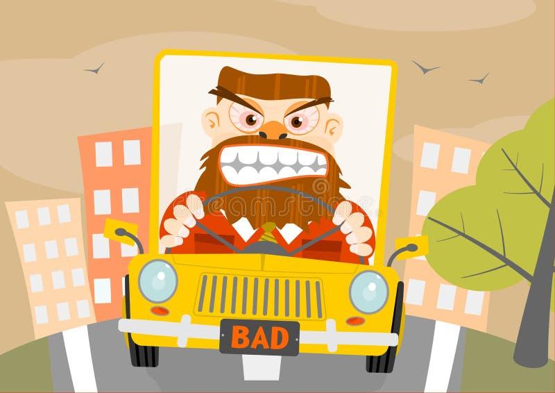 Rage de route. illustration libre de droits