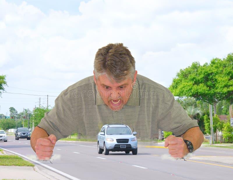 Rage de route images libres de droits