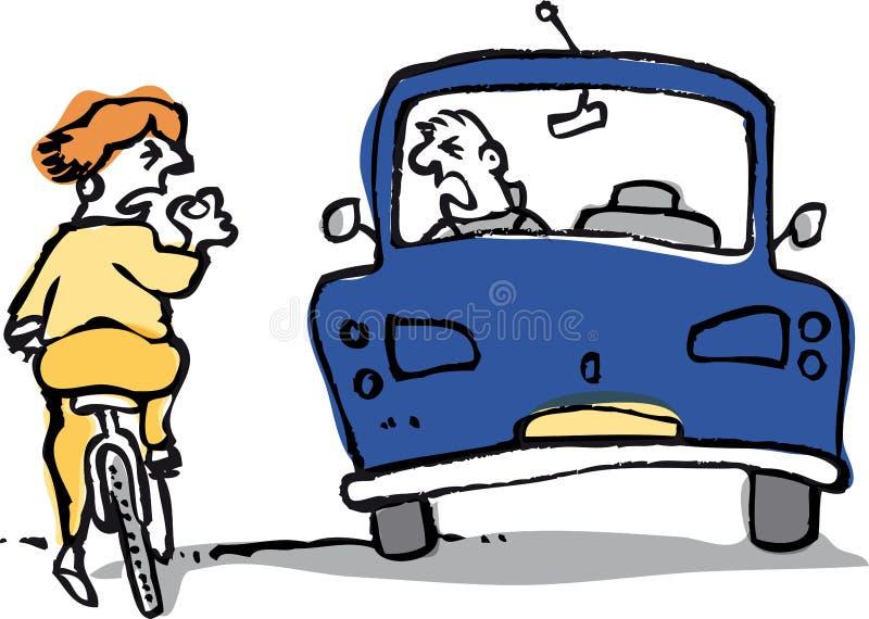 Rage de route illustration stock