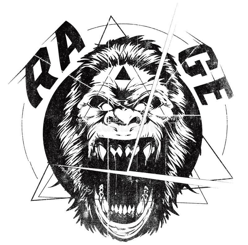 Rage vector illustration