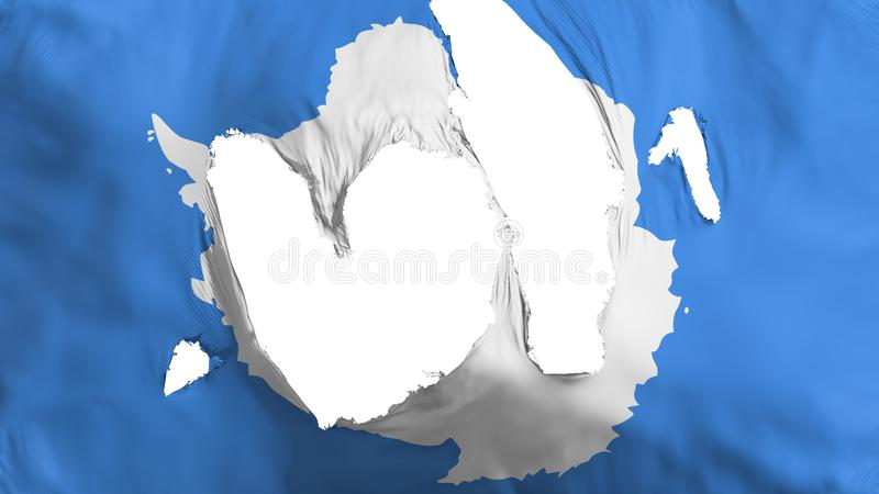Ragged σημαία της Ανταρκτικής διανυσματική απεικόνιση