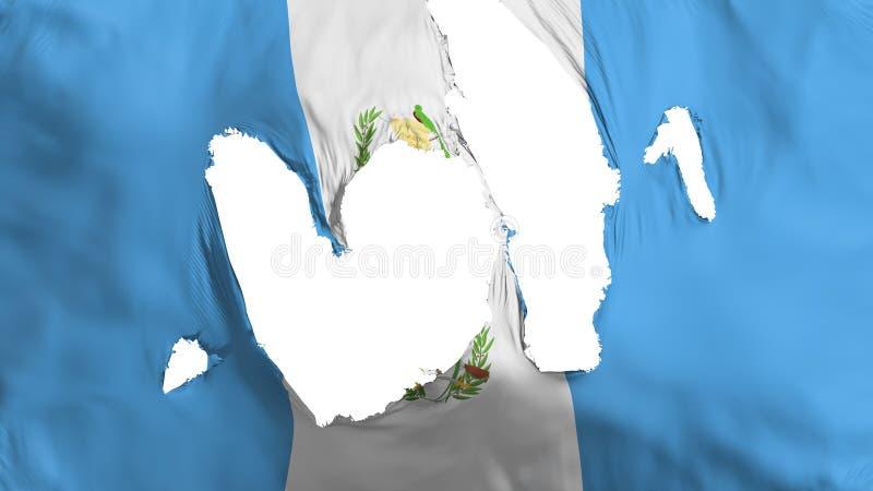 Ragged σημαία της Γουατεμάλα απεικόνιση αποθεμάτων