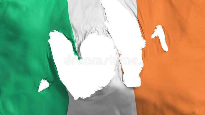 Ragged σημαία της Ιρλανδίας απεικόνιση αποθεμάτων
