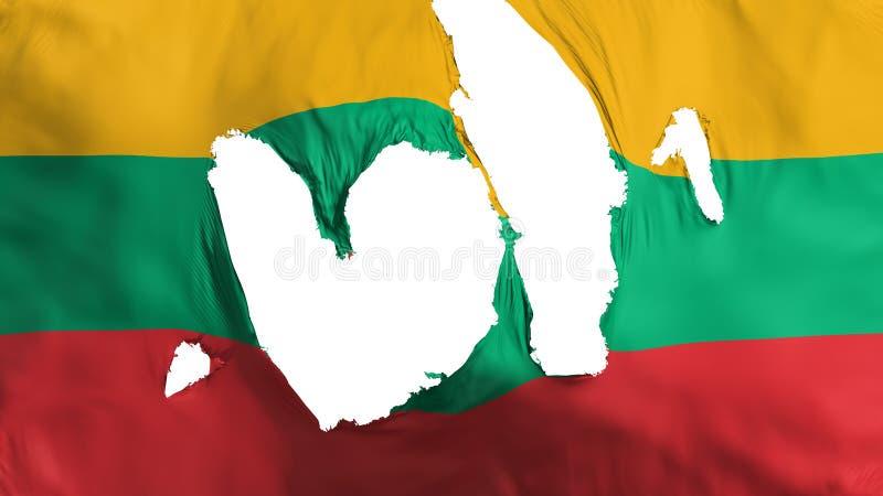 Ragged σημαία της Λιθουανίας απεικόνιση αποθεμάτων