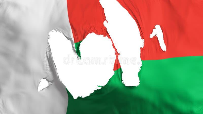 Ragged σημαία της Μαδαγασκάρης διανυσματική απεικόνιση