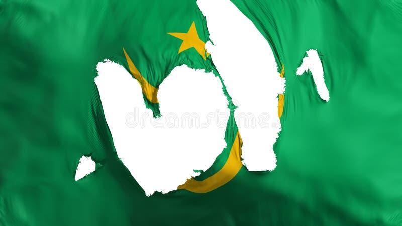 Ragged σημαία της Μαυριτανίας διανυσματική απεικόνιση