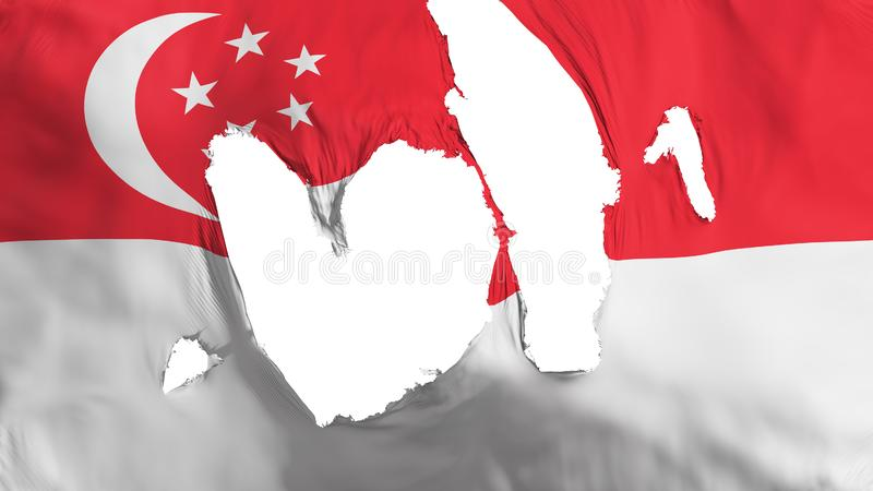 Ragged σημαία της Σιγκαπούρης απεικόνιση αποθεμάτων