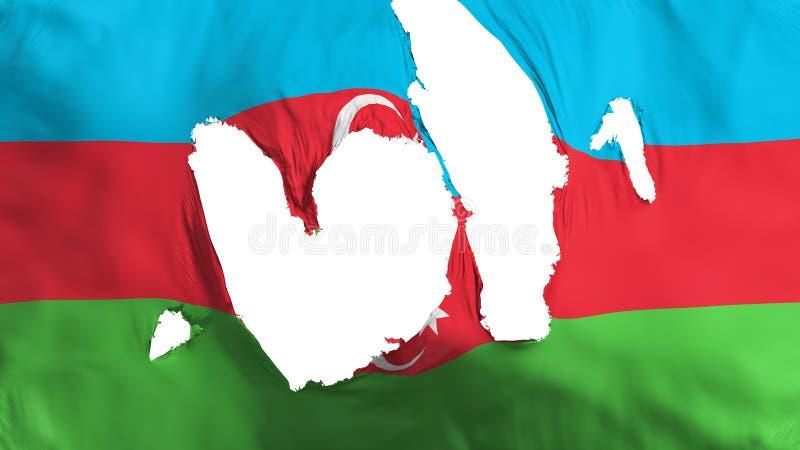 Ragged σημαία του Αζερμπαϊτζάν ελεύθερη απεικόνιση δικαιώματος