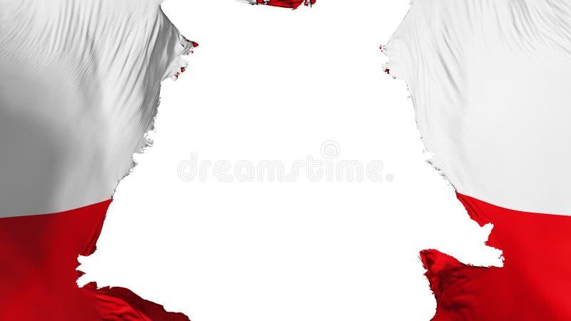 Ragged σημαία του Γιβραλτάρ διανυσματική απεικόνιση