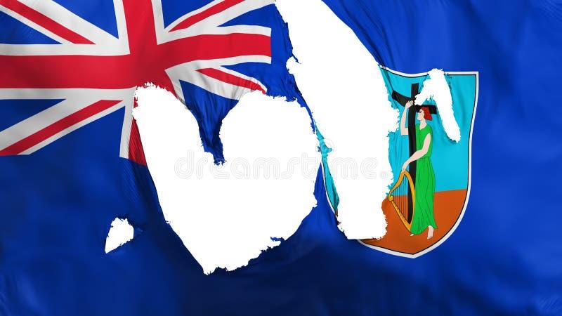 Ragged σημαία του Μοντσερράτ διανυσματική απεικόνιση