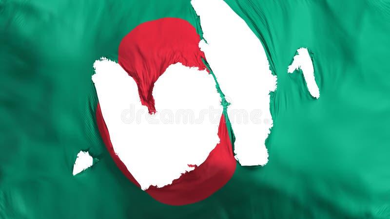 Ragged σημαία του Μπανγκλαντές απεικόνιση αποθεμάτων