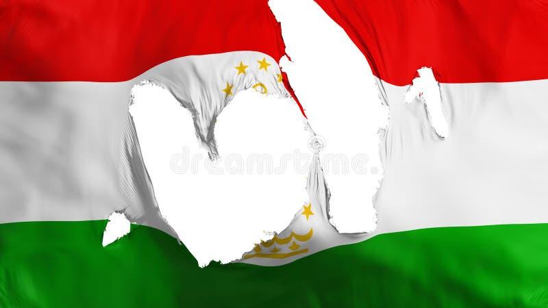 Ragged σημαία του Τατζικιστάν διανυσματική απεικόνιση